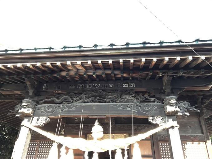 菖蒲神社拝殿彫り物