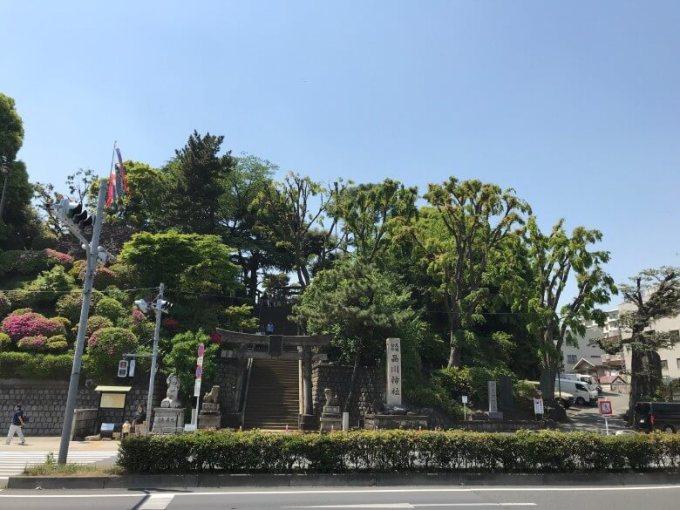 品川神社外観