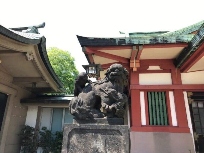 品川神社狛犬4左