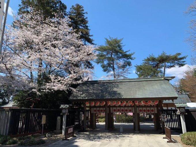 櫻木神社神門前