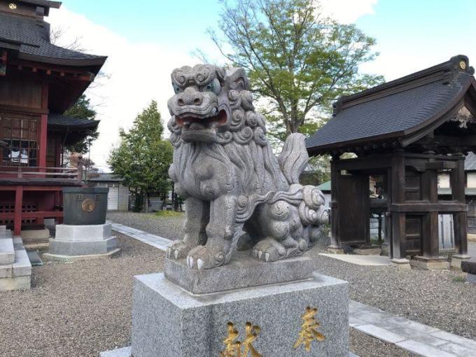鹿沼今宮神社狛犬右2