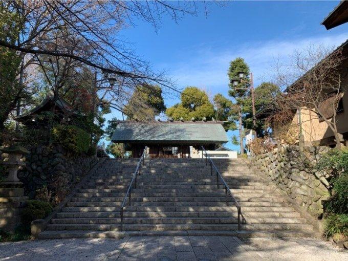 所澤神明社階段
