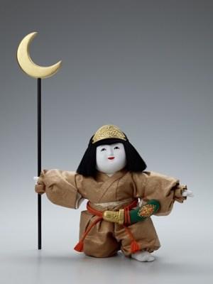 十二世久重作 木彫御所人形「初陣」