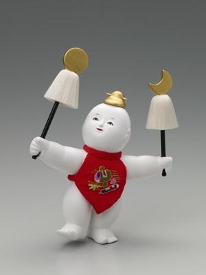 庄五郎(建一時)作 木彫御所人形「明」