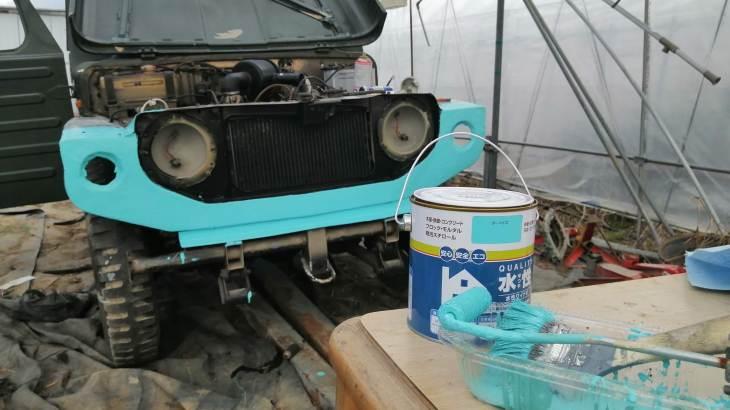 目指せ!LJ20ジムニー公道復帰 灯火類装着の準備と塗装開始です