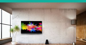 Hisense Dual Cell TV in living room