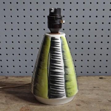 50s pottery lamp base