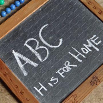 Child's abacus & writing slate