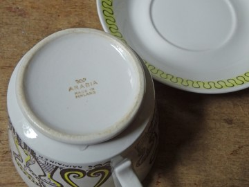 Vintage Arabia cup and saucer designed by Birger Kaipiainen | H is for Home