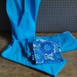 blue floral bedding set