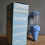 blue plastic tea dispenser