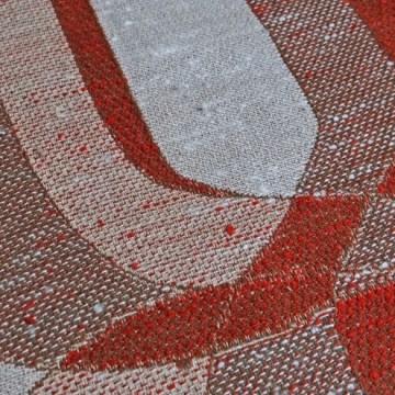 Vintage brown op-art fabric