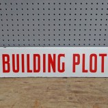 building plot sign