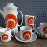 orange Burleigh Orbit coffee set