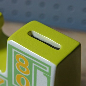 Carltonware green train moneybox | H is for Home