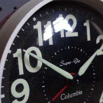 Red Columbia alarm clock