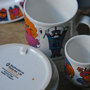 Vintage Elayne Fallon Circus breakfast set | H is for Home