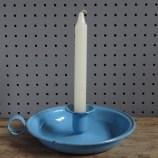 Kockums blue enamel candle holder