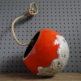 West German fat lava hanging planter