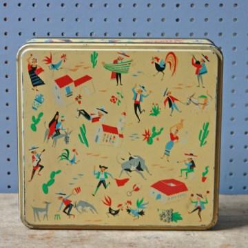 Vintage Fiesta biscuit tin
