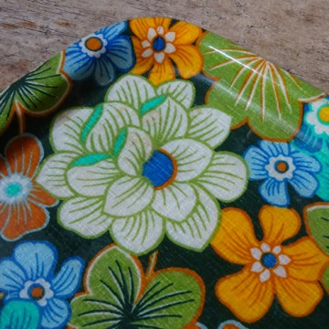 Vintage floral fibreglass tray | H is for Home