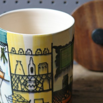 Vintage Jie Gantofta lidded pot | H is for Home