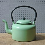 Vintage green enamel kettle | H is for Home