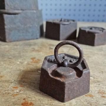 hexagonal iron weights