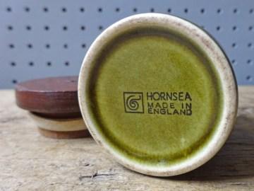 Vintage Hornsea Pottery apple salt shaker   H is for Home