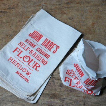 Vintage John Hare's cotton flour bag