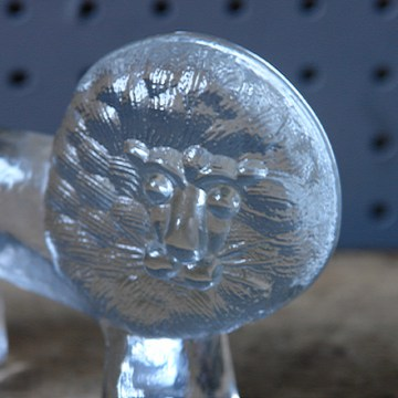 Vintage Kosta Boda glass lion | H is for Home