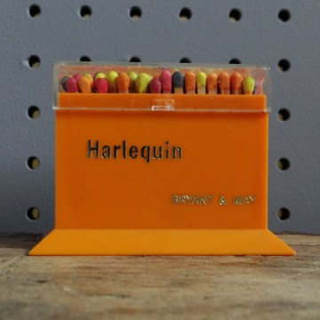 Harlequin matchbox and matches