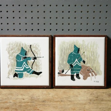 Vintage Mika Inuit tiles | H is for Home