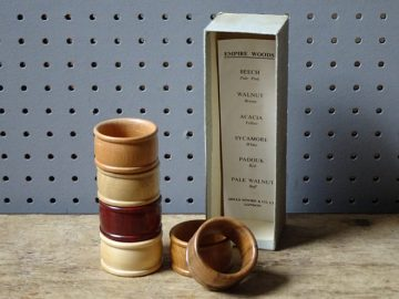 Vintage Mills Moore wooden napkin rings | H is for Home