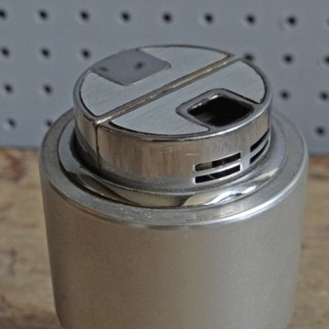 Modernist stainless steel lighter