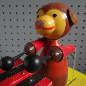 pull along monkey toy