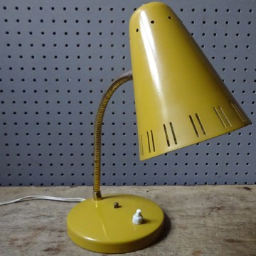 Mustard desk lamp   H is for Home