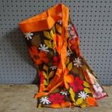 floral orange apron