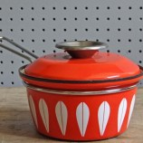 Orange Cathrineholm Lotus saucepan