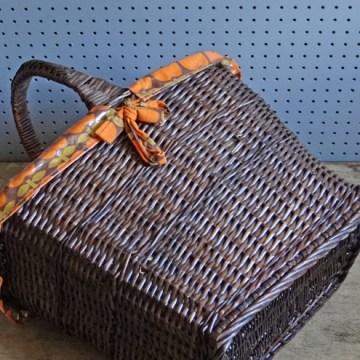 orange lined basket