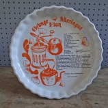 Orange meringue flan dish