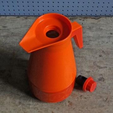orange vacuum jug