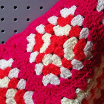 Pink crochet knee blanket | H is for Home
