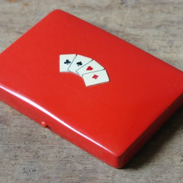 Vintage playing cards box | H is for Home