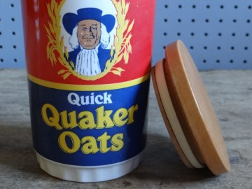 Lord Nelson Quick Quaker Oats storage jar