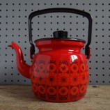 red Finel enamel kettle