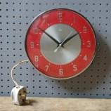 Vintage red Metamec wall clock
