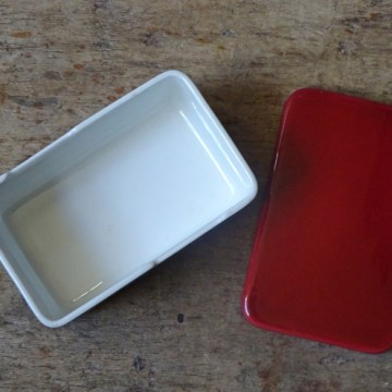Vintage Rorstrand Red Top lidded butter dish | H is for Home