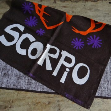 Scorpio tea towel