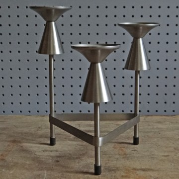 Stainless steel candelabra